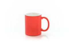 Cups for sublimation of different shapes and colors on a white background Stock Photography