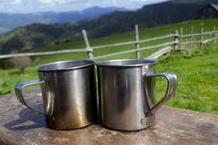 cups tabell två Arkivfoto