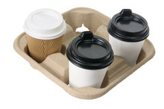 Cups of Takeaway Coffee Royalty Free Stock Photography