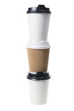 Cups of Takeaway Coffee Royalty Free Stock Photos