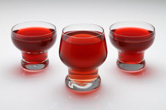Cups of tea. Three red tea glass on the table Stock Photography