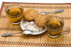Cups with tea Stock Photos