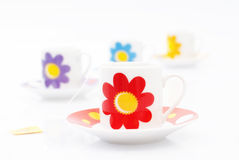 Cups of tea Stock Images