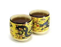 cups tea Royaltyfria Bilder