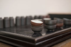 Cups of tea ceremony Royalty Free Stock Images