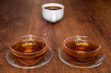 Cups of tea and coffee. Cups of a tea and a coffee Stock Photos