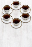 Cups with tea or coffee Royalty Free Stock Image