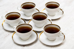 Cups with tea or coffee Royalty Free Stock Images