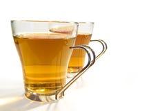cups tea två Arkivfoto