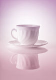 Cups for tea on a white background Stock Images