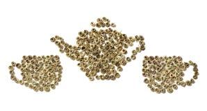 cups teapot två Fotografering för Bildbyråer