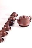 cups teapoten Royaltyfria Bilder