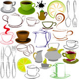 Cups and teapots Stock Photography