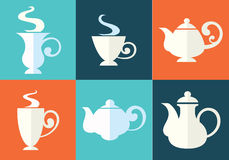 Cups and teapots Royalty Free Stock Images
