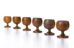 cups trä Arkivfoton