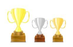 cups trofén för guldsymbolssilver Royaltyfria Foton