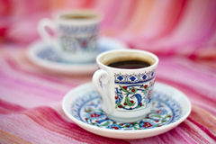 Cups of Turkish coffe Royalty Free Stock Images