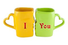 Cups for Valentine's Stock Photography