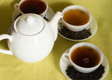 Cups of varies of  tea Stock Photography