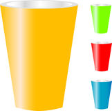 Cups of various color isolated on white Stock Image