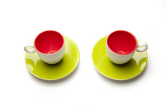 Cups on white background Royalty Free Stock Photos
