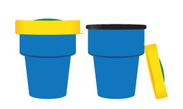 Cups  on a white background. Packaging and Mockup illustration and Stock Photography