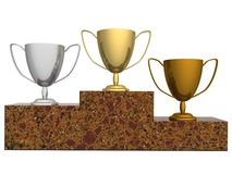 Cups for winners Royalty Free Stock Photos