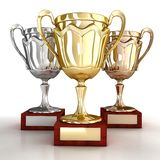 Cups for winners Stock Photos