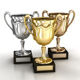 Cups for winners Royalty Free Stock Images