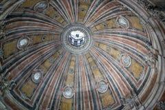 Cupula of Estrela Basilica in Lisbon, Portugal. Inside view of Cupula of Estrela Basilica in Lisbon, Portugal royalty free stock image
