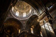 Cupula of Estrela Basilica in Lisbon, Portugal. Inside view of Cupula of Estrela Basilica in Lisbon, Portugal stock image