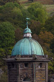Cupula green dome, copper with Verdigris, gloomy sky Stock Photo