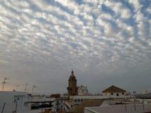 Cupula iglesia Santo Domingo & x28; CÃ ¡ diz& x29; obraz royalty free