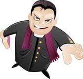 Curé ou ecclésiastique effrayant illustration stock