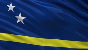 Curaçao旗子-无缝的圈 免版税库存照片