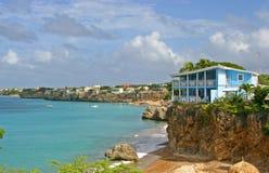 Curaçao-Klippen-Wohnung Lizenzfreie Stockbilder