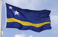 Curaçao señala por medio de una bandera Imágenes de archivo libres de regalías