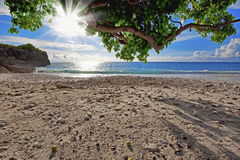 Curaçao setzen auf den Strand stockbild