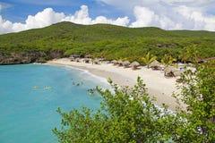 Curaçao setzen auf den Strand stockbilder