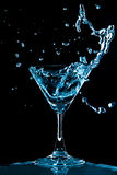 Curaçau azul espirra imagem de stock royalty free