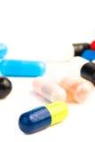 Cura con le pillole colorate Fotografie Stock Libere da Diritti