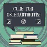 Cura da escrita do texto da escrita para a osteodistrofia Tratamento do significado do conceito para a dor e a rigidez das junçõe ilustração royalty free