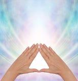 Cura de la energía del poder de la pirámide Fotografía de archivo