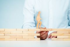 Cura del cliente, sviluppo personale e supporto immagine stock libera da diritti