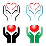 Cura del cuore Immagini Stock