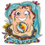 Cura della madre della perla dell'ostrica Fotografia Stock Libera da Diritti