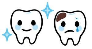 Cura dentale dei denti del fumetto illustrazione vettoriale