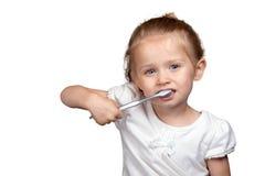 Cura dentale sveglia Fotografia Stock