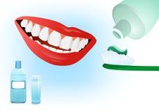 Cura dentale, vettore dei cdr Fotografia Stock