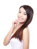 Cura di capelli della donna Fotografia Stock Libera da Diritti